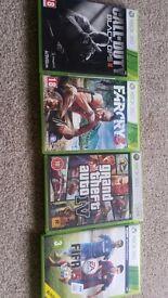 4 games xbox 360 Gta IV , Call of Duty II, Fifa 15 ,Farcry 3