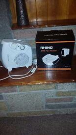 NEW Rhino Heating Fan Heater 2000W White @£10 RRP £20