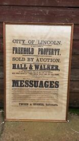 ANTIQUE LINCOLN POSTER.