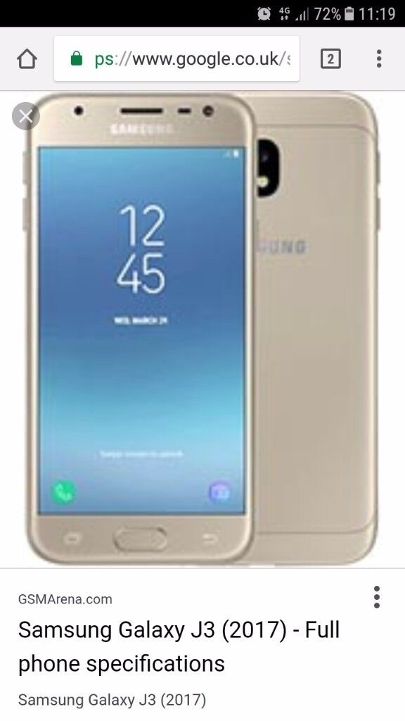 gold samsung galaxy j3 2017 version