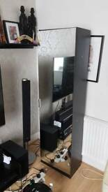 Tall 6ft shoe cabinet with mirror