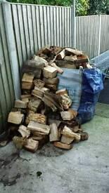 Split Seasoned Logs Ready For Winter Open Fire Log Burner Firewood