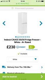 Brand new inbox fridge freezer