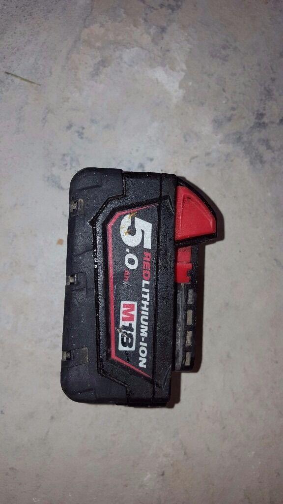 Milwaukee 18v 5.0Ah Battery Redlithium-ion