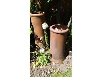 Large pair of chimney pots ideal garden planters
