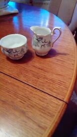 Royal Albert Bone China Milk jug and sugar bowl