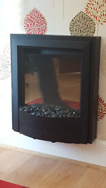 Electric fire - wall heater - remote controlled - VGC