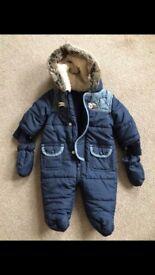 Newborn baby snowsuit from Matalan