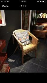 Ikea wicker chairs
