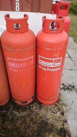 Calor Gas Two Large Red Propane Gas Bottle 47kg (empty)