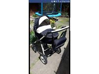 Travel system neo x3 black and cream