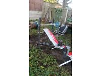 WEIGHT BENCH AND WEIGHTS 100kg