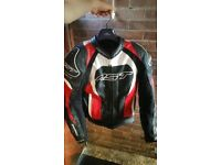 RST Tractech Evo 2 Leather Jacket Red Mens Medium UK 42