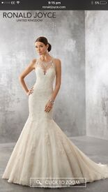 Stunning Ivory Ronald Joyce Fishtail Wedding Dress