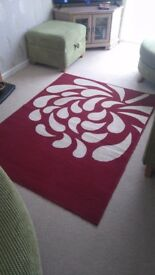 Red Rug ,Cushions & Lampshade for Sale