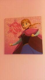 2 Large Frozen Anna and Elsa Canvas