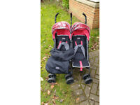 Double pushchair / stoller / buggy