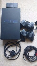 Ps2 + 2 Controllers + 22 Games