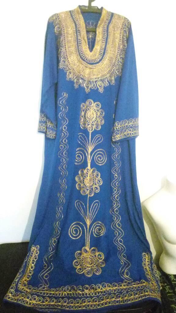 Authentic blue gold Turkish kaftan