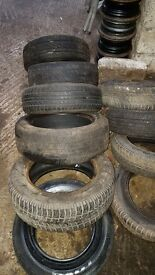 assorted tyres for sale from £8 & £10