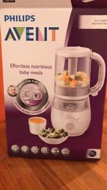 Unused Avent 4 in 1 baby food maker, steams, blends, defrosts and reheats