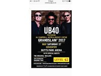 1 x UB40 TICKET - COVENTRY - BUTTS PARK ARENA