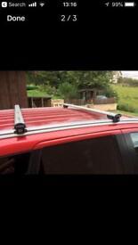 Aero aluminium roof bars T slots Mitsubishi Outlander 2013-present