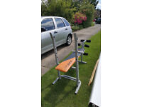 V-Fit folding exercise bench