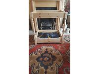 HANDMADE 4 POSTER DOG BED GOOD QUALITY WOOD USED £55