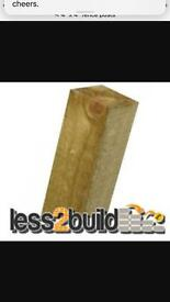 "Fence posts 4x4"" 10 avaialble"