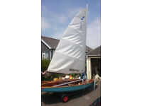 Wooden Solo Sailing Dinghy