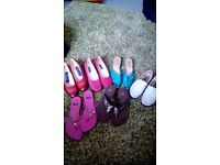 Six pairs modern ladies shoes one pr 4 others size 5 giveaway price for lot