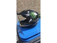 Kids motocross helmet Monster energy (lepord)