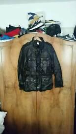 Fire trap leather jacket