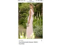 Four true bride bridesmaid dresses shallow blue