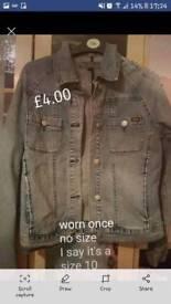 Demin jacket worn once size 10