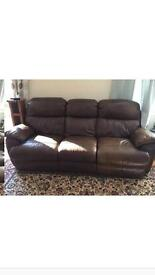 Real leather recliner sofa, sensible offers considered.