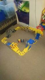 Chuck and friends play set
