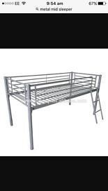 Metal mid sleeper bed