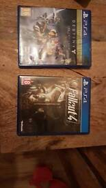 Destiny ps4 and fallout 4 ps4