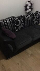 Charcoal farrow corner sofa