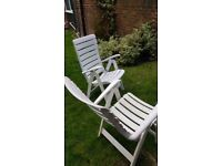 Garden chair set with cover