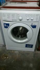 INDESIT WHITE 8KG WASHING MACHINE 3 MONTHS GUARANTEE