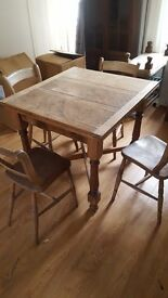 Antique dining table and four chairs - MUST GO TODAY OR TOMORROW