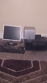 Dell Epson pc monitor printer subwoofer surround speakers and leads bargain!!