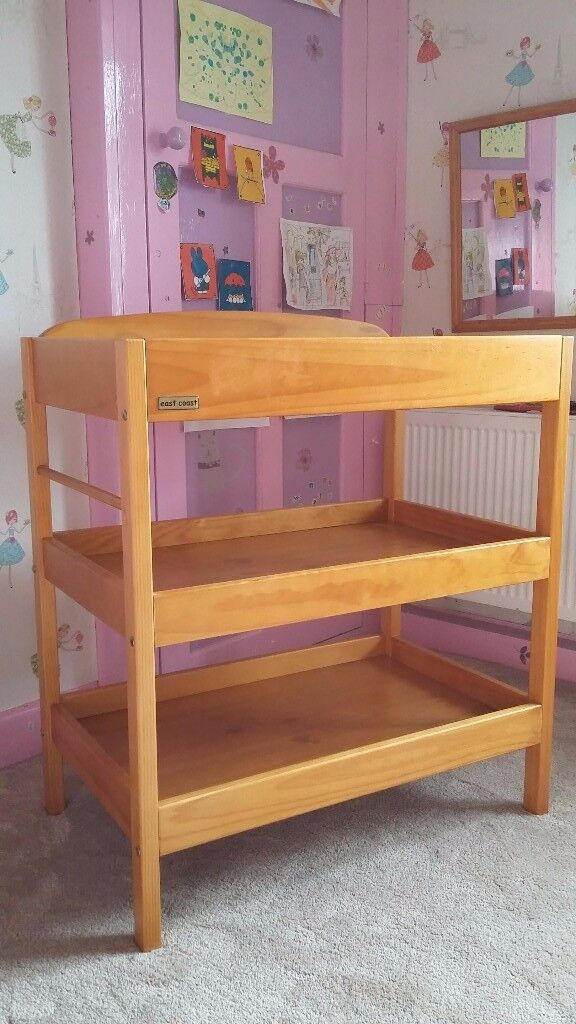 Baby changing table / changing station, wooden, East Coast