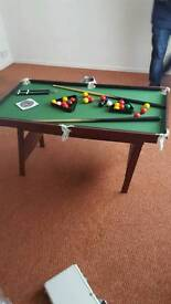 Childs pool table never been used
