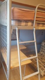 Loft bed, comes with desk and bed/chair. See photos