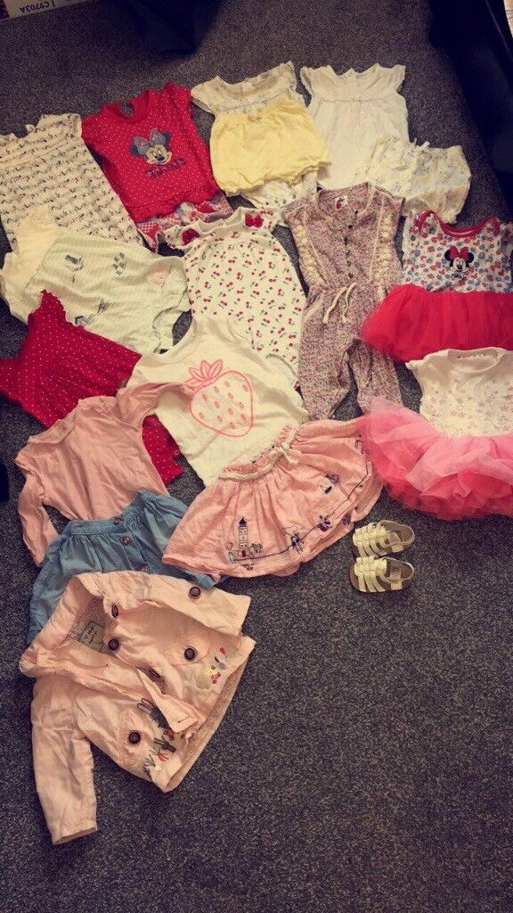 Baby girl clothes 6-9 and 9-12 bundles