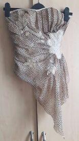 Leopard print corset